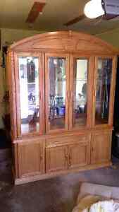 Solid Oak Hutch Buffet - Need gone asap. Priced to sell