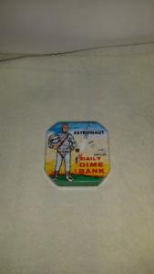 Vintage astranaut dime bank