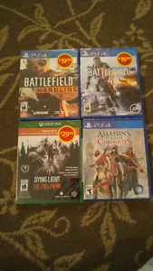 Games PlayStation 4 and Xbox One