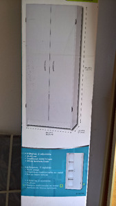 White storage cabinet - Pantry - Brand New in original Packing