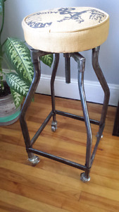 stool with casters