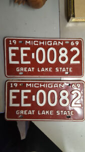 1969 Muscle car plates