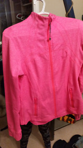 Pink Lululemon Sweater Jacket  Like New as was only worn a coupl