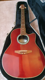 Ovation Celebrity Electro-Acoustic Guitar with hardcase.