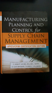 Manufacturing Planning and Control  Apics/Cpim