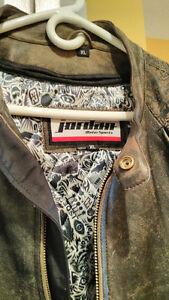 Michael Jordan motorcycle leather jacket