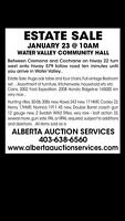 Estate auction water valley Hall Jan23@10am