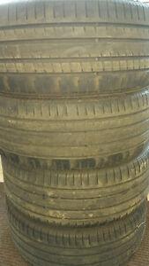 255 55 18 4 pneus pirelli pzero rosso