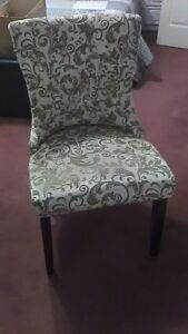 Lovely Modern Gold and Ivory Brocade Chair