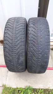 2 Winter tires Goodyear Nordic M+S (195/65/15)