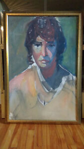 Large portrait painting - acrylic on canvas - 27 x 39.5 inch