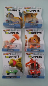 HOT WHEELS DISNEY THE MUPPETS FULL SET OF 6 CARS 2013 DIE CAST