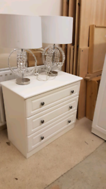 White small wardrobe & set of drawers