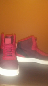 Red Nike Air High Tops, decent condition $70 size 13.