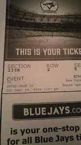 2 tickets -  Sept 24th Jays vs Yankees  London Ontario image 1