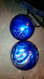 Boules de bowling (grosses) 9 et 12 lbs