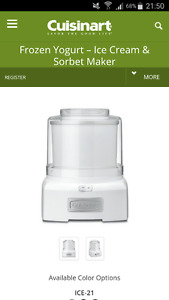 Cuisinart Frozen Yogurt/Ice Cream/Sorbet Maker