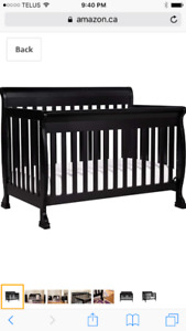 3 in 1 crib with mattress, change table pad and crib accessories