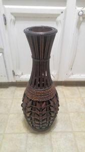 Large Wicker Floor Vase
