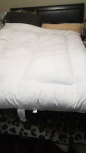 2 QUEEN COTTON  FEATHER BEDS