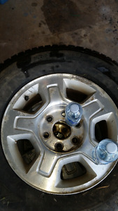 Studded Firestone winter force tires and wheels
