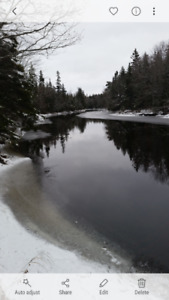 4.94 acres of water frontage. Grand Mira Cape Breton