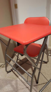 Student folding desk with chair