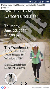 Fundraiser/silent auction