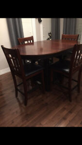 5 Piece Pub Style Table and Chairs