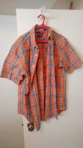 Men's Orange Strip Shirt
