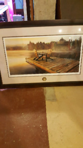 Framed picture by ducks unlimited