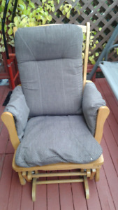 oak glider chair with cushions