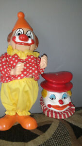 two vintage clown banks banque en forme de clown **I SHIP**
