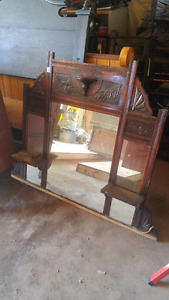 Antique Mirror with shelving