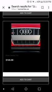 Audi B8 A4 - license plate delete insert