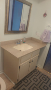 Bathroom vanity, countertop and sink