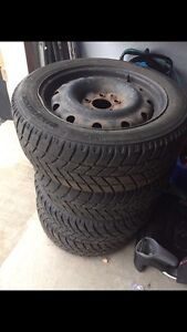 Hankook 205/55R16 Winter tires and Rims.