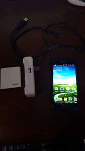 Samsung Galaxy S4 plus extra battery charger and case . $150 !!