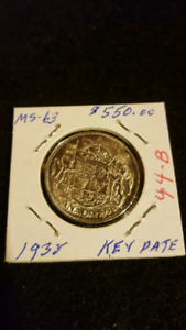 1938 SILVER 50 CENT COIN KEY DATE