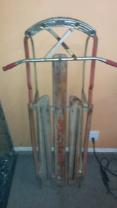 "Antique steerable  sled ""Frisky Flyer"""
