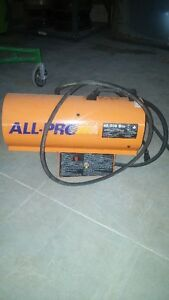 Hardly used 40,000btu all pro propane shop construction heater