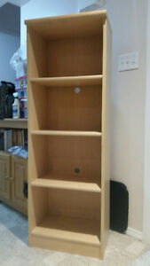Desk, bookcase and chair set