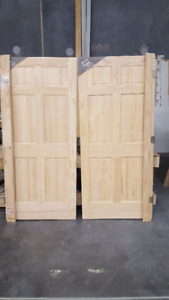"Double 36"" Solid Clear Pine French Doors - Pre-hung - Brand New!"