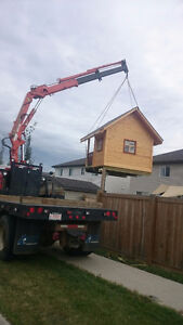 PICKER TRUCK FOR HIRE !!! HOIST SHEDS, HOT TUBS, BOULDERS ECT. Strathcona County Edmonton Area image 8