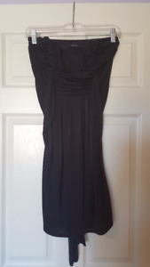 Women's Black Strapless Dress (Size S/P)
