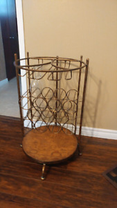 WROUGHT IRON WINE RACK!!!!!!!!!