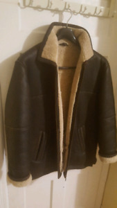 GENUINE SHEARLING LEATHER COAT