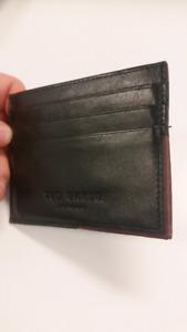 Ted Baker - card wallet (black/burgundy leather)