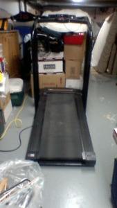 Treadmill with weights .... Folds up to save space