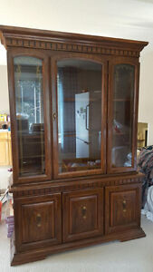 Solid, Wood antique Dining Hutch/China Cabinet, made in USA!! London Ontario image 2